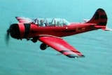 The Russian-built Yak 52 single-engined plane that crashed off South Stradbroke Island