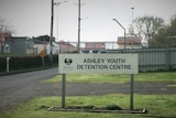 Sign at entrance of Ashley Youth Detention Centre.