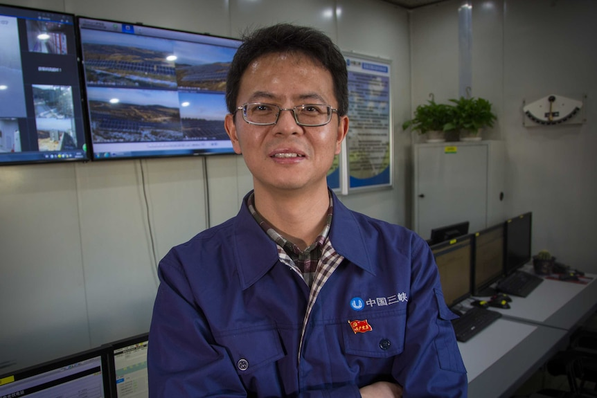 Pu Chengjun helps manage the project from Three Gorges New Energy in China. February 2018.