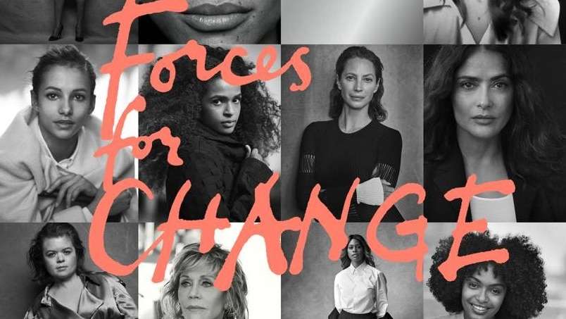 Eight women included on the cover of British Vogue's September issue.