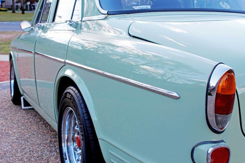 Volvo 122S from the rear.
