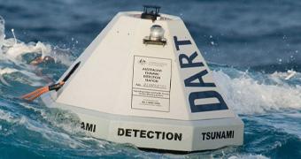 A tsunami monitoring buoy.