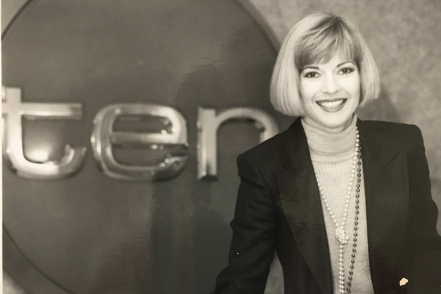 Juanita Phillips pictured with Channel 10 logo