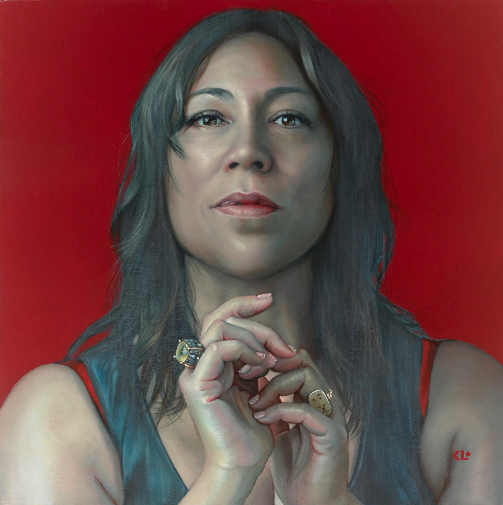 获奖作品的原型人物凯特·塞贝拉诺说,艺术家凯瑟琳·朗赫斯特让她看起来负有尊严与权力