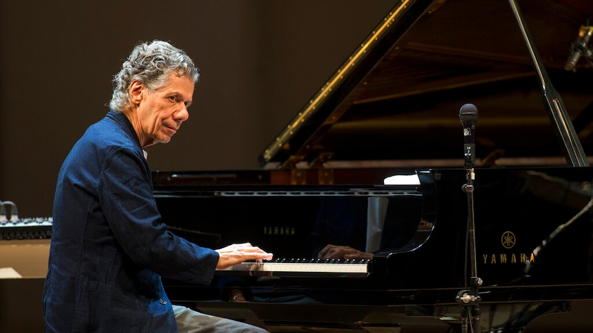 Chick Corea performs with Eddie Gomez and Brian Blade perform during their concert in Moscow, Russia.