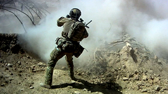 SAS soldier in Afghanistan