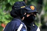 Indonesian policewomen