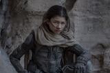 The actress Zendaya in the 2021 film Dune