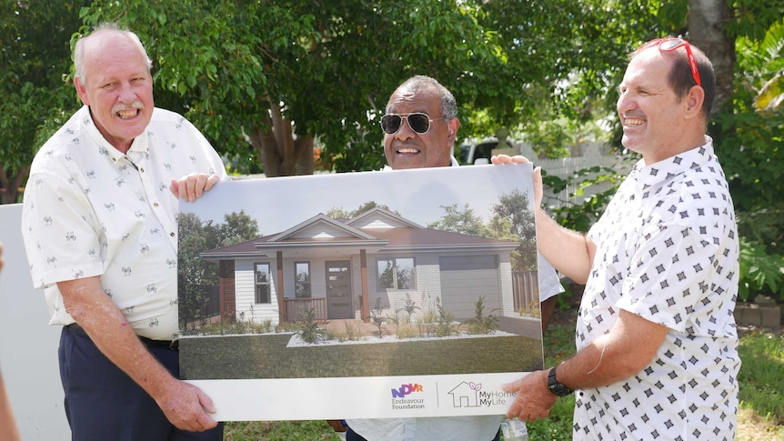Mates John, Malcolm and Brendan to finally get their purpose-built forever home