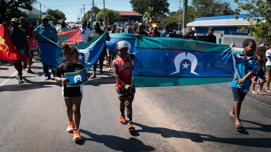 Torres Strait Islands Flag Day march, May 2021