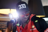 Chris Gayle at Melbourne airport