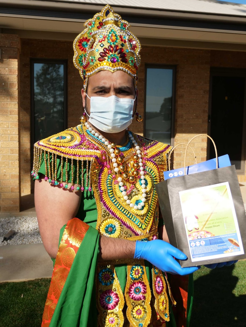 As part of the Onam celebration, the mythical king Maveli will visit all the Malayalee families in Greater Bendigo.