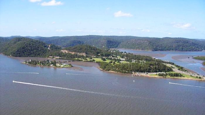 Also for sale is Peat Island and adjacent foreshore land at Mooney Mooney.