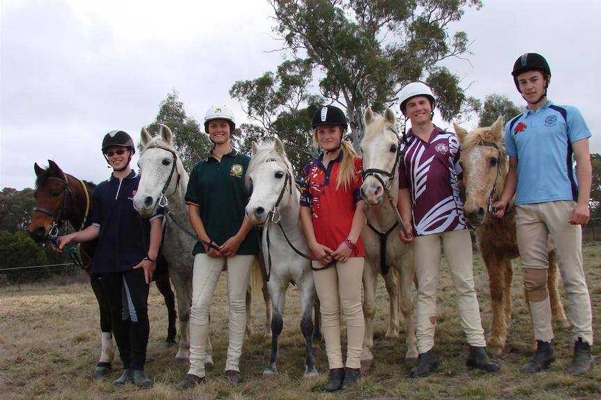Australian team Mounted Games