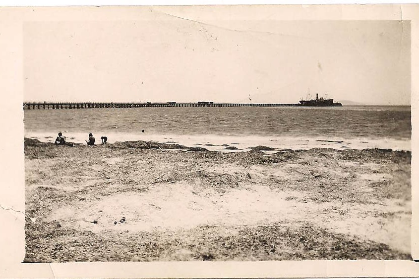 Historic image of a jetty.