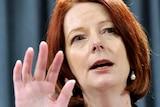 Prime Minister Julia Gillard speaks at a press conference