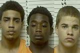 Chancey Luna, 16, James Edwards Jr, 15 and Michael Jones, 17