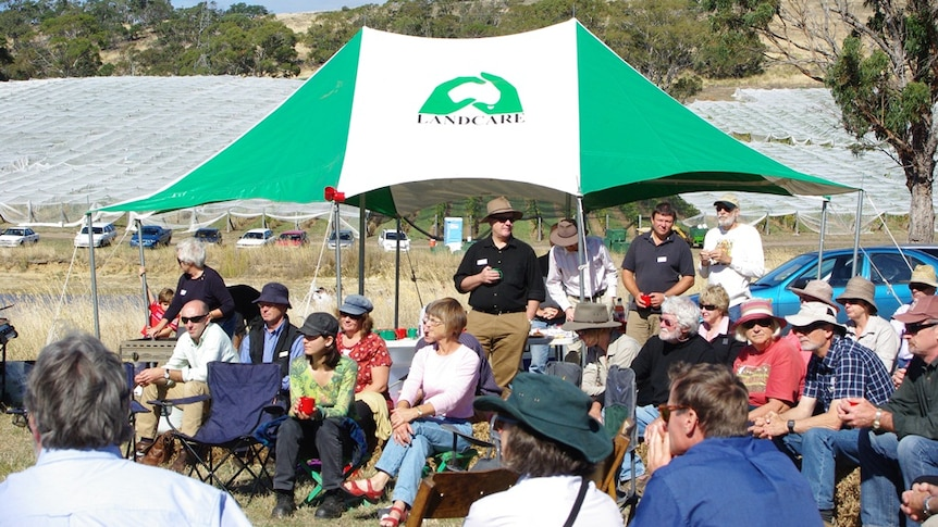 Landcare volunteers at a field day