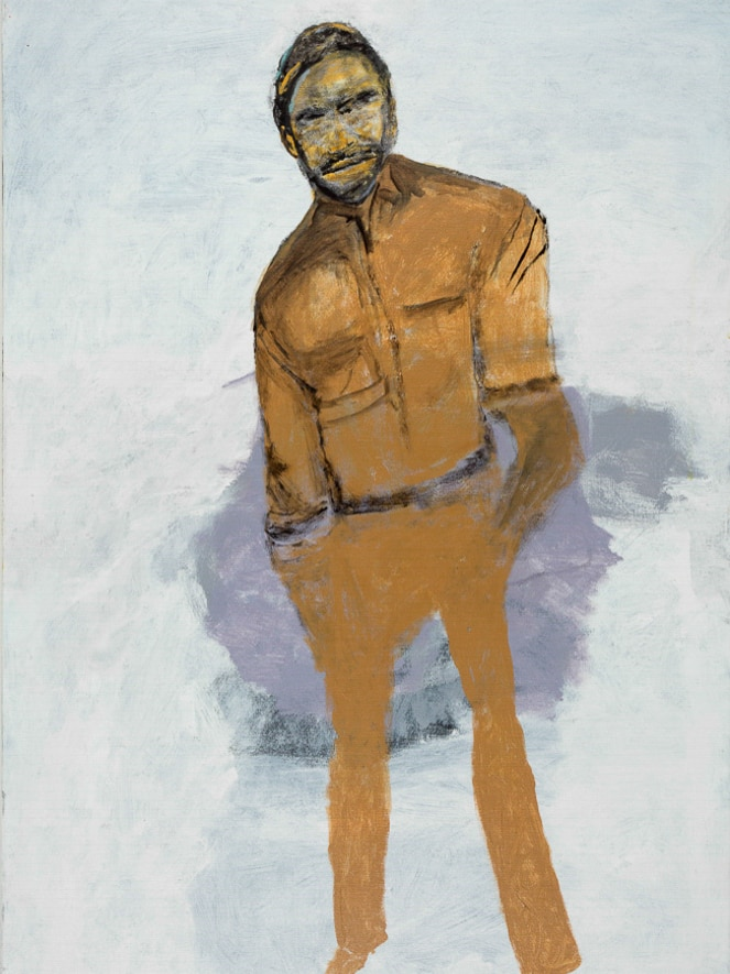 photo of a painting of a man dressed in brown