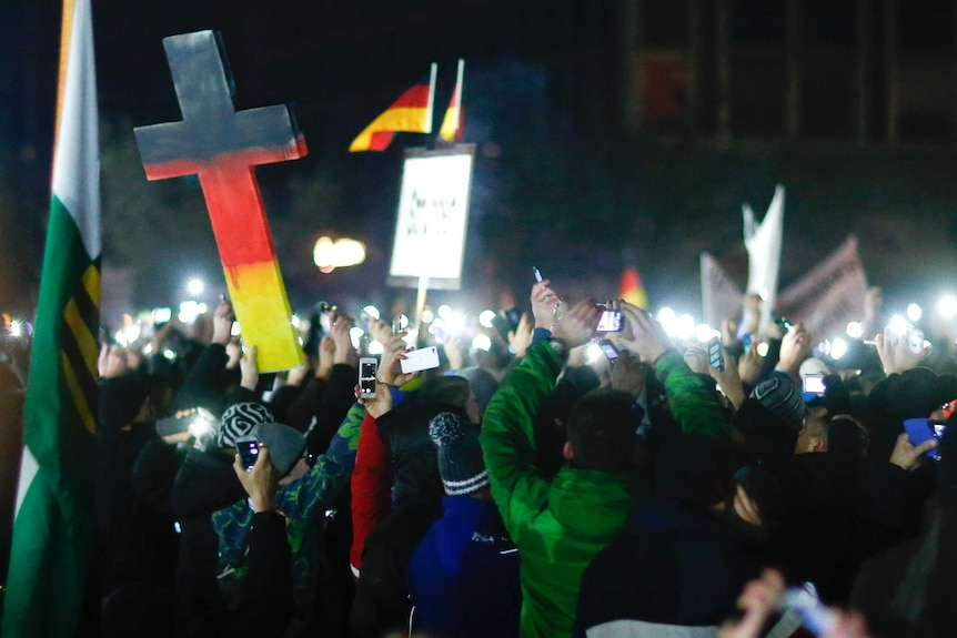 Dresden protests called by anti-immigration group