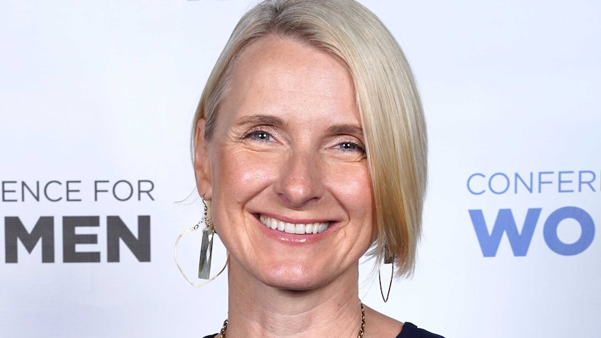 Author Elizabeth Gilbert poses for a photo at an event.