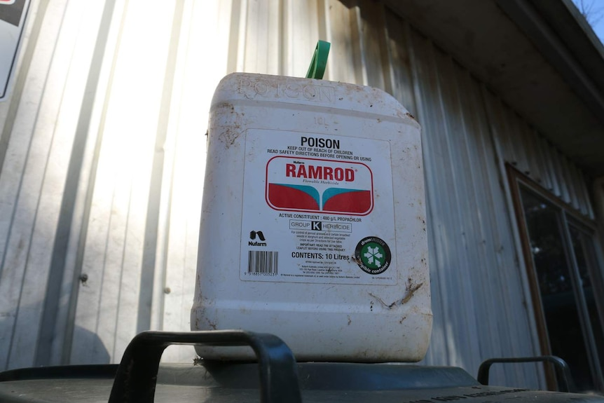 A large drum with a Ramrod label.
