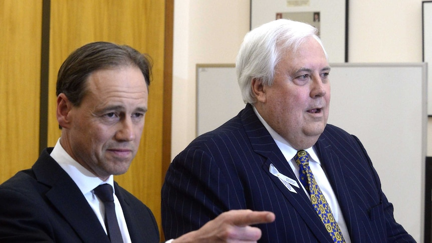 Greg Hunt and Clive Palmer
