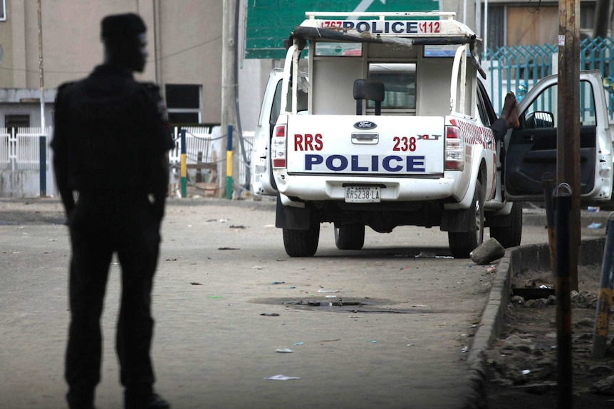 Police vehicle in Nigeria
