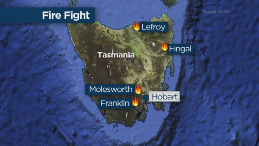 Interstate firefighters considered for Tasmania