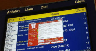 WannaCry ransomware attacked Deutsche Bahn's internal network.