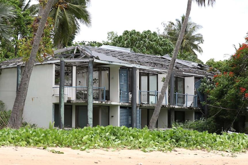 Units at Dunk Island Resort damaged by Cyclone Yasi in 2011.