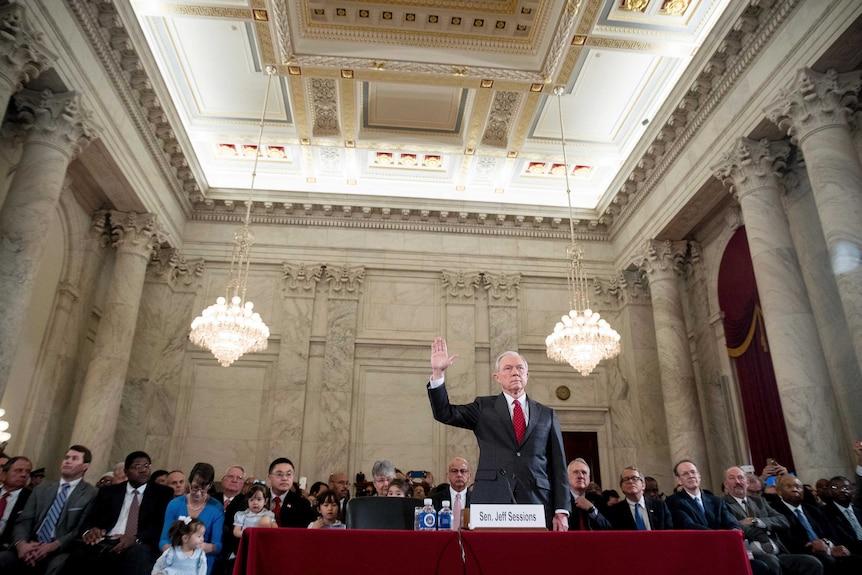 Jeff Sessions at his Senate confirmation hearing
