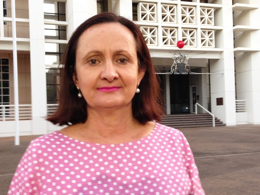 Robyn Lambley outside Parliament after quitting the CLP