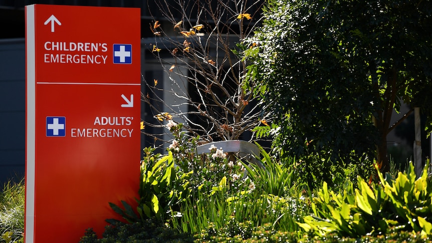 Emergency signs for Westmead Hospital