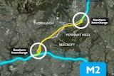 NorthConnex tunnel map