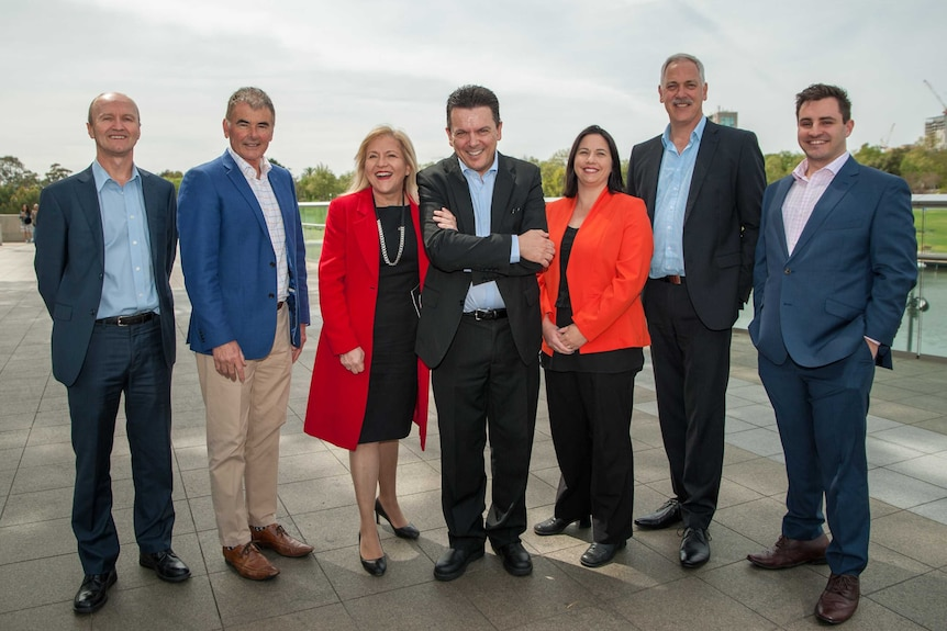 Nick Xenophon and his SA Best candidates.