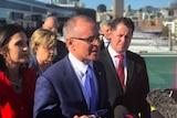 Premier Jay Weatherill announces the hospital built atop the helipad