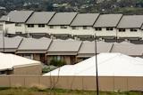 images of two rows of terrace housing