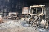 Bushfire damage to Duffs property