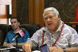 Samoan Prime Minister Tuilaepa Sailele
