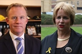 A composite image of Will Hodgman and Sue Hickey.