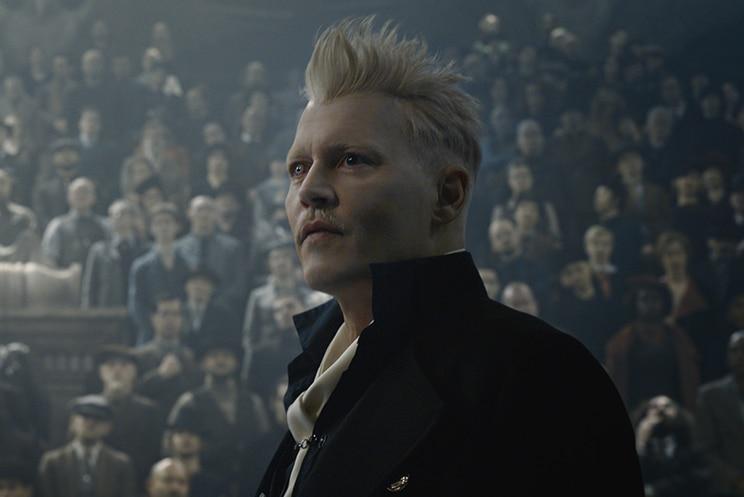 Colour still of Johnny Depp as Gellert Grindelwald in 2018 film Fantastic Beasts: The Crimes of Grindelwald.