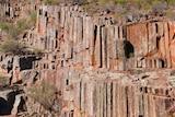 Vertical rocks in the Gawler Ranges
