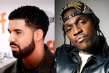 The Canadian rapper Drake and the American rapper Pusha T