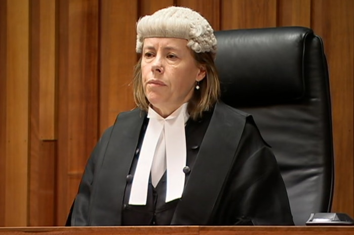 Justice Helen Wood at the bench in the Supreme Court
