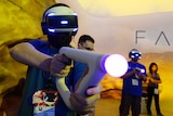 Gamers try out the new Sony VR headset