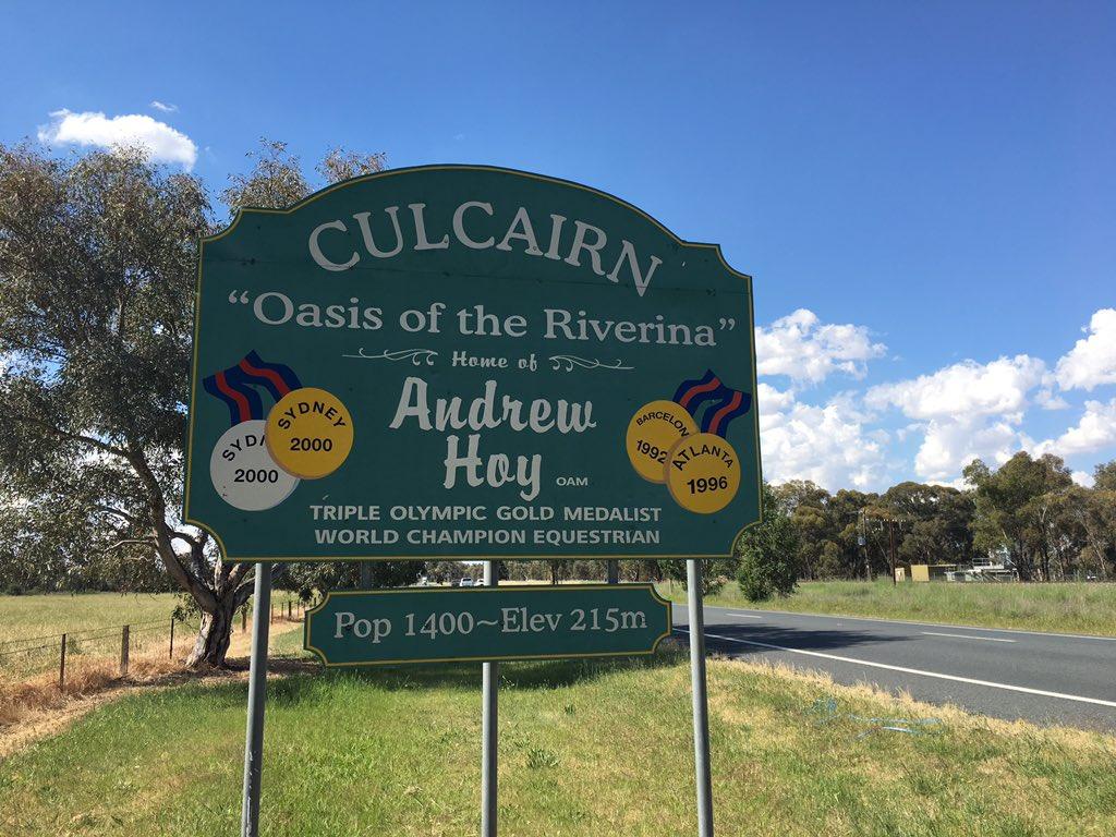Culcairn's town sign