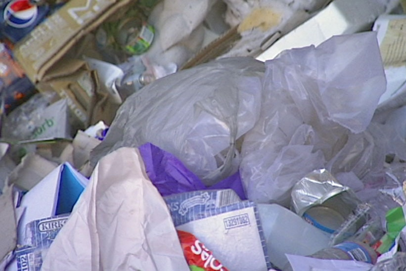 Close up of rubbish pile