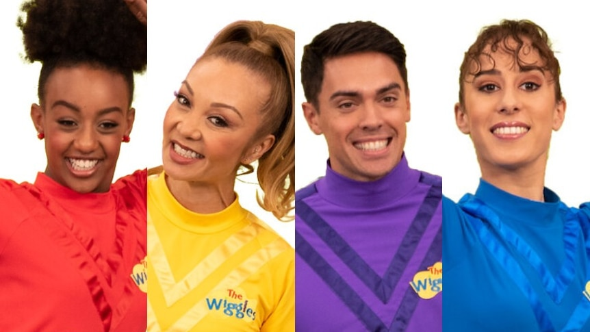 The Wiggles new cast members Tsehay Hawkins, Kelly Hamilton, John Pearce andEvie Ferris,  in story about diversity.
