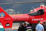 The girl was flown to Hobart for treatment.